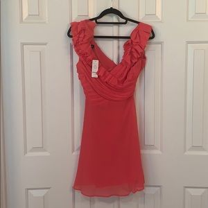 Bebe Ruffle Fit and Flare Dress